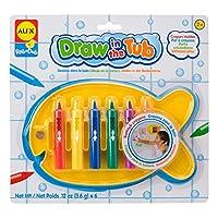 ALEX Toys Rub a Dub 6 crayones de bañera con soporte