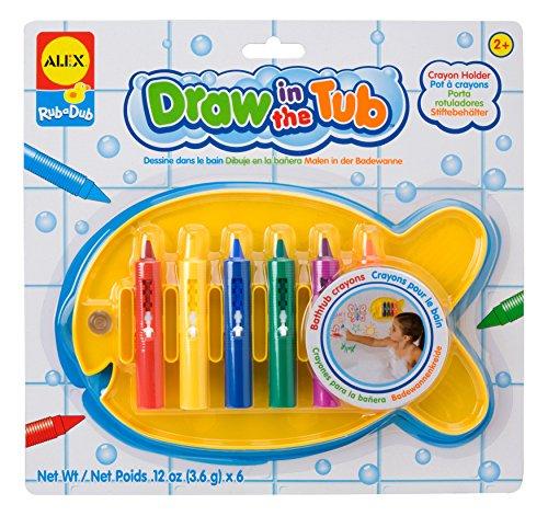 ALEX Toys Rub a Dub 6 Bathtub Crayons with Holder