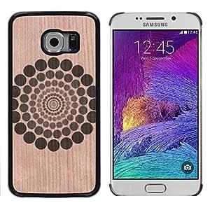- Pattern Rings Floral Abstract Minimalist - - Funda Delgada Cubierta Case Cover de Madera FOR Samsung Galaxy S6 Edge G9250 G925F BullDog Case