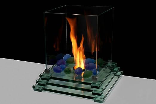 Cristal Chimenea 40 x 40 cm mesa bioetanol Top Modern: Amazon.es ...