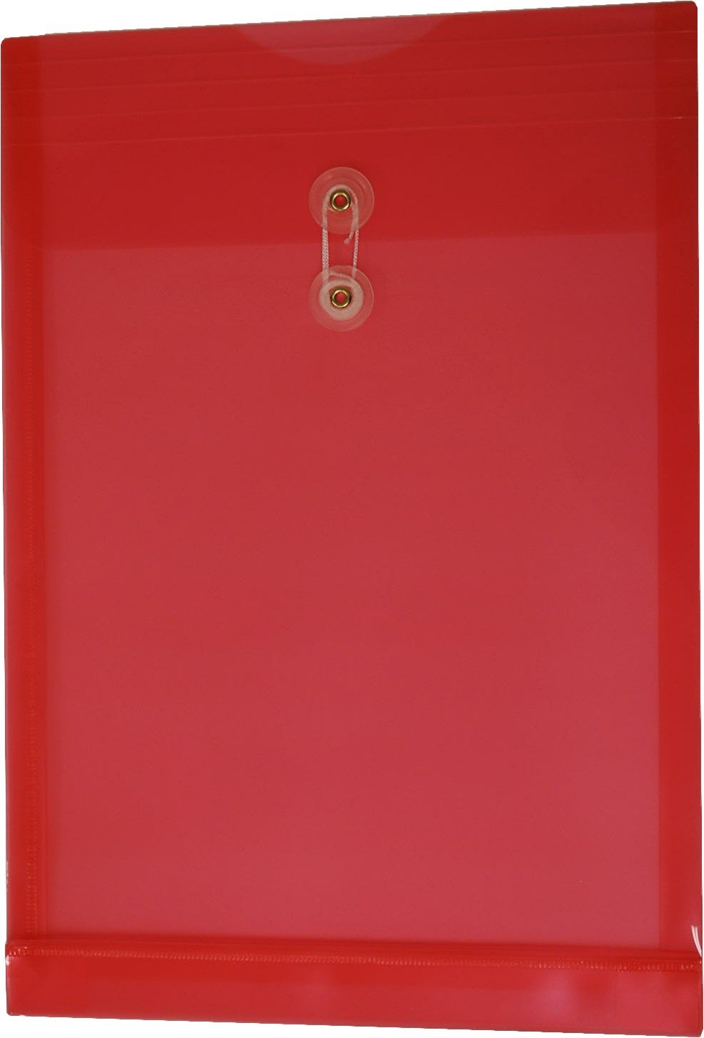 Filexec Poly envelope, Legal size, Top load, Button string closure,Red, (Pack of 6) (50055-14102)