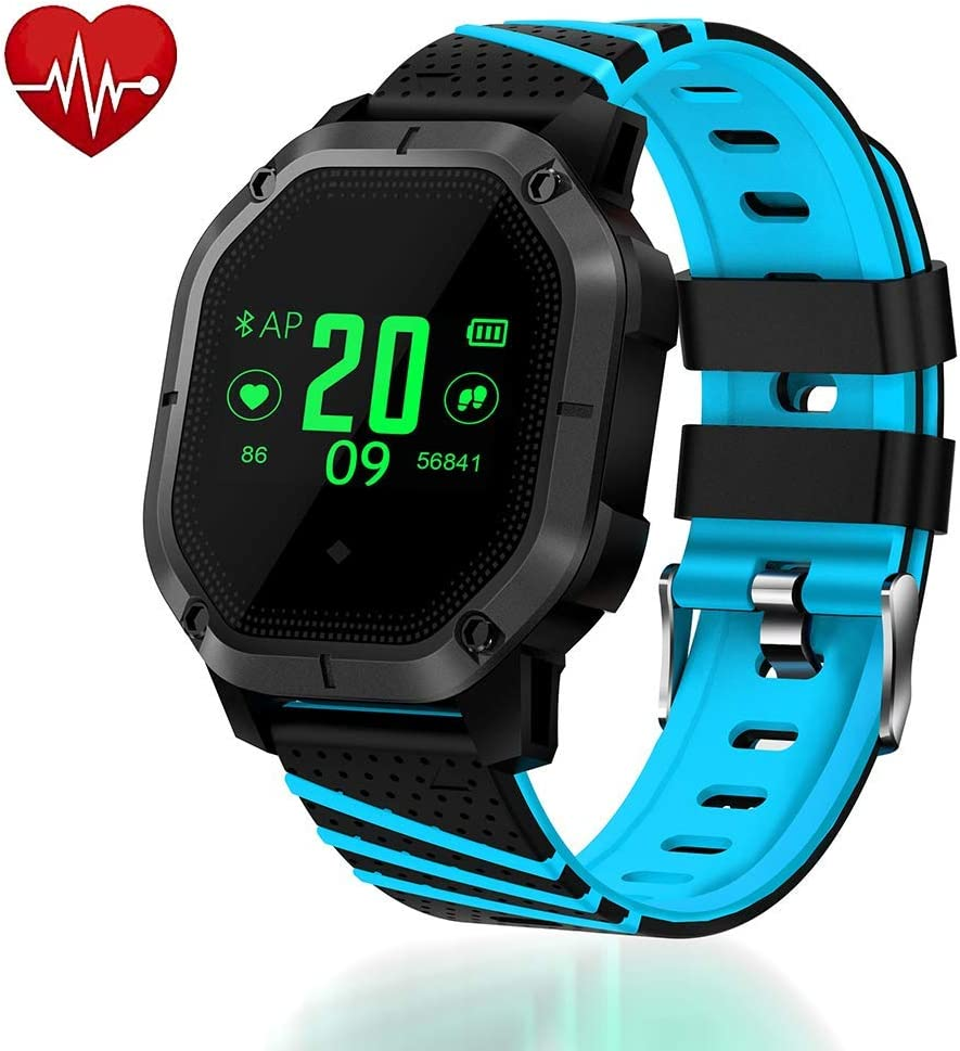 Lantop Waterproof Bluetooth Smart Watch Multi-Function Sport Band Blood Pressure Heart Rate Monitor Running Swimming Fitness Tracker