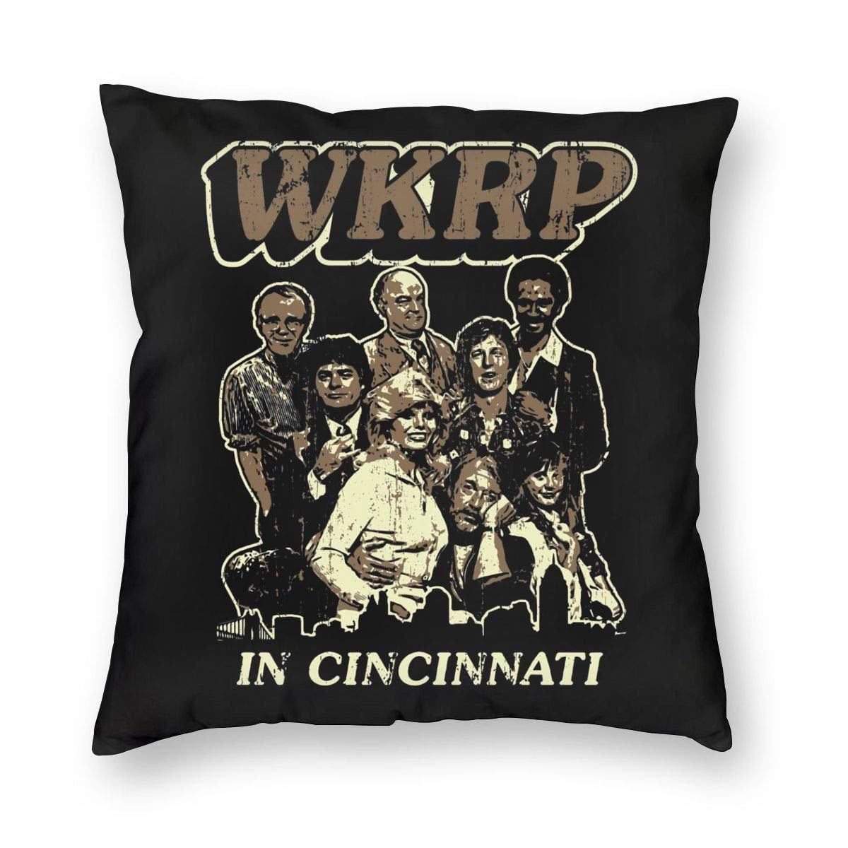 Amazon.com: Lemonnnen WKRP in Cincinnati - Cojín cuadrado ...