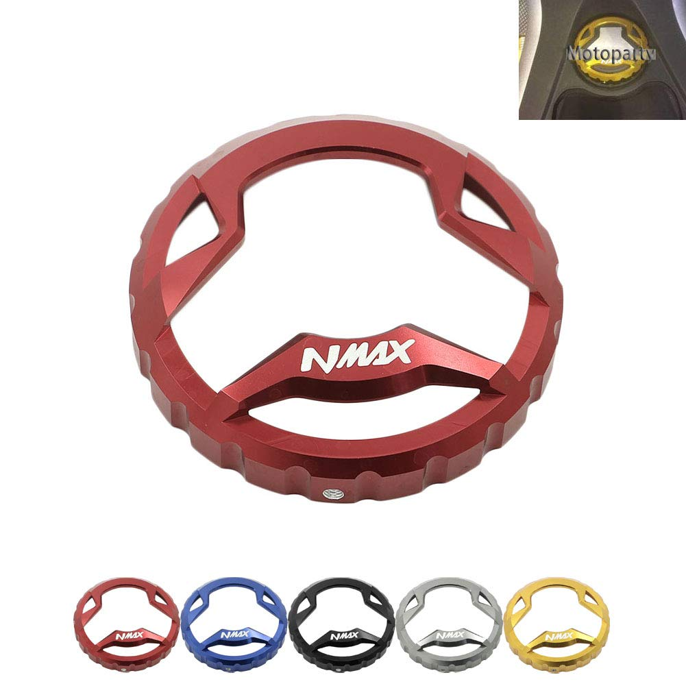 Motoparty NMAX155 Fuel Tank Cap Oil Cover For Yamaha NMAX 155 Fuel Protecter Modified Cap 2015-2016, Gold