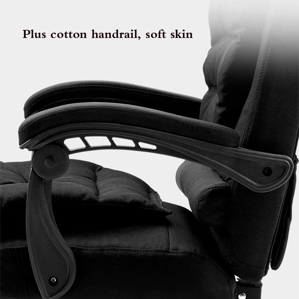 Datorstol hem fritid chef stol kontor svängbar stol snygg hög rygg lounge stol vilande lat stol kan lyftas och sänks avtagbar och tvättbar Mörkbrunt BLÅ