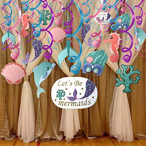 Konsait Mermaid Hanging Swirl Decoration Home Ceiling Wall Decor For