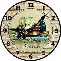 Decro Home Round Fruit Platter Wall Clock-16