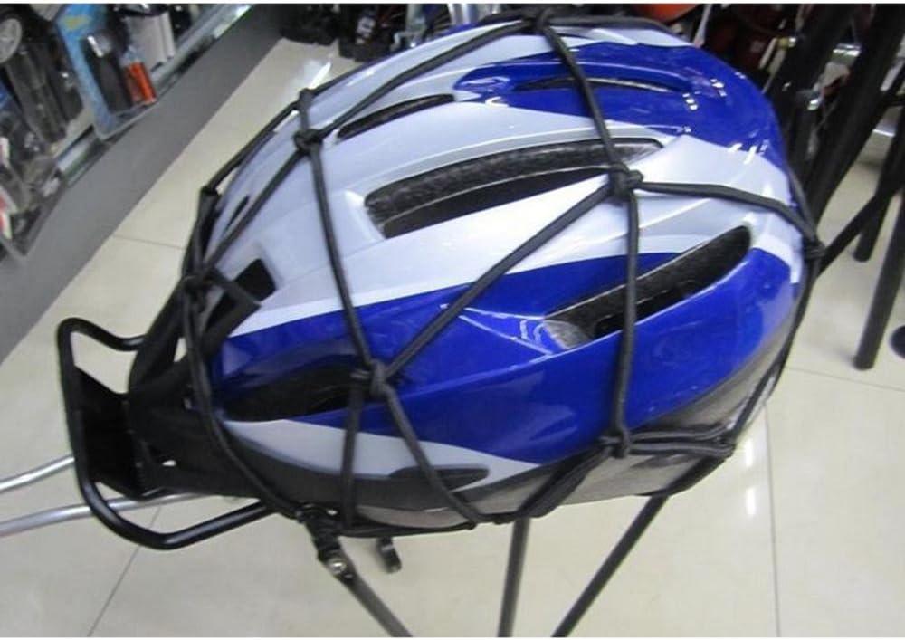 Huntgold 1 X Stretch Fahrrad Mtb Gepäcknetz Seil Mit Haken Elastisches Gepäcknetz Rot Sport Freizeit