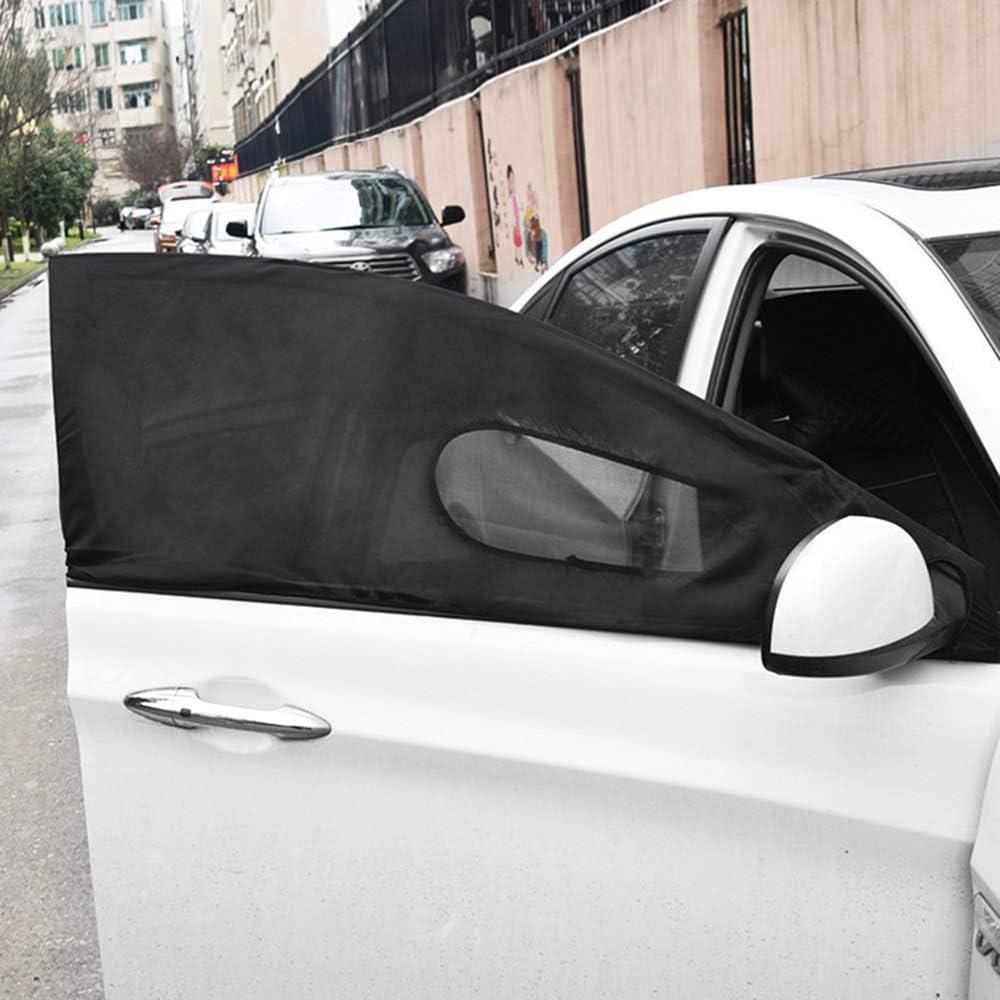 FONLAM Parasole Auto per Finestrino Anteriore Laterale di Auto Protezione Solare UV Insetti Visiera Universale Zanzariera Beb/è Bambino Animale Domesticio