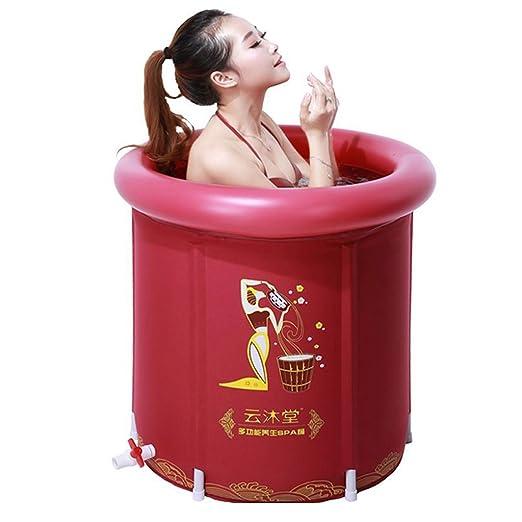 GBYYMX Bañera Hinchable Bañera para Adultos Cubo Rojo bañera ...