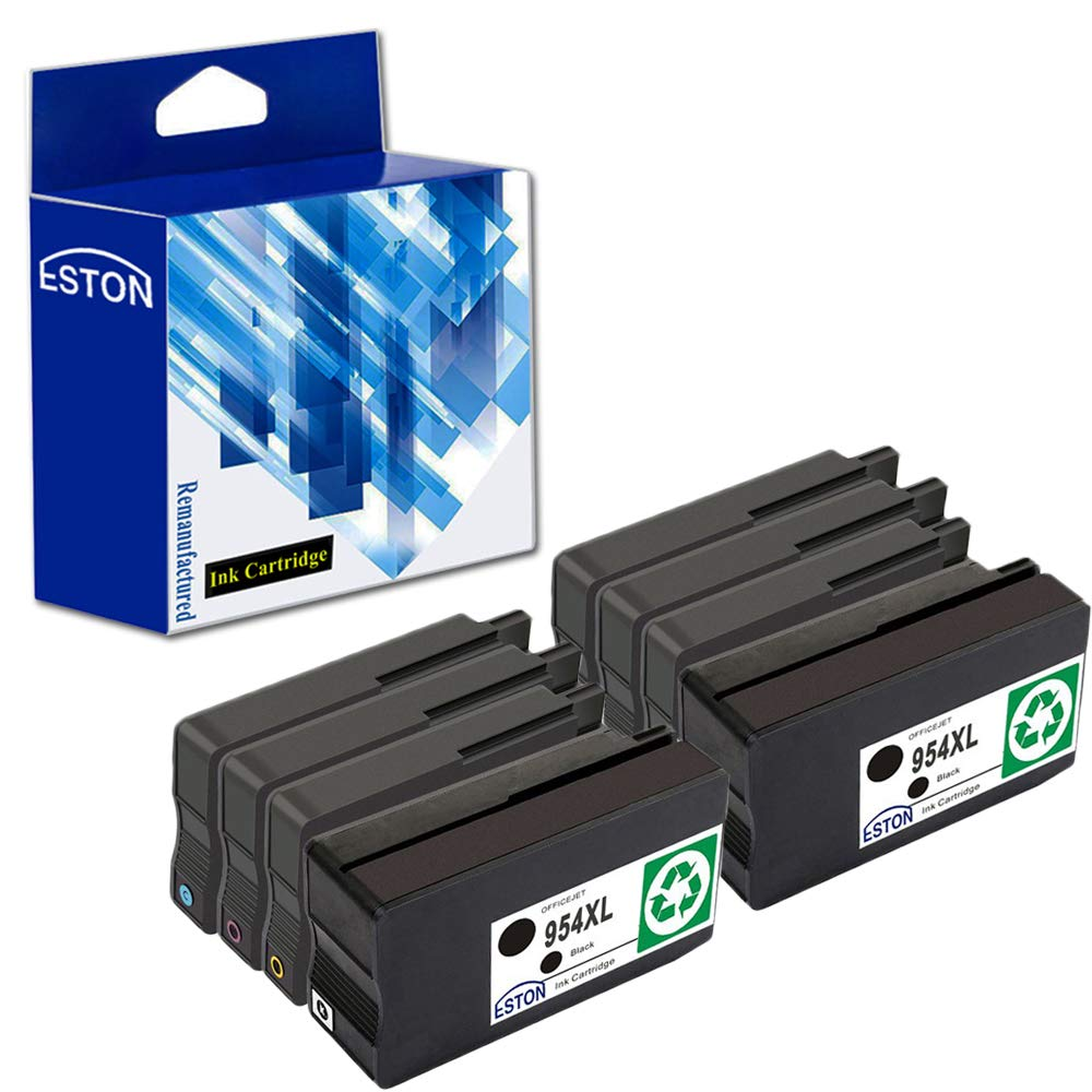 ESTON Remanufactured for 954XL 954 XL High Yield Ink Cartridges - 8 Pack (Black Cyan Magenta Yellow) for OfficeJet Pro 8210 8710 8720 8730 Printers