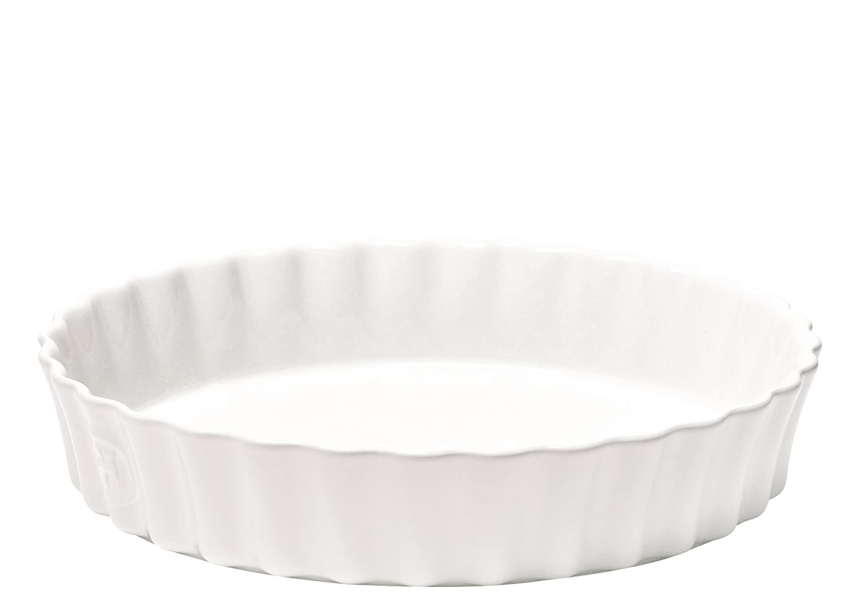 Emile Henry 91116028 Deep Flan Dish 30cm/11.8-Inch 2.5L/2.5qt, Farine EH116028