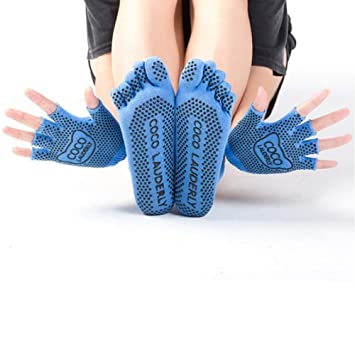 Calcetines Guantes Yoga Antideslizantes Mujer Set,Calcetin ...