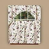 Cherry Kitchen Decor European Kitchen Cherries Vintage Print 3pc Kitchen Curtain Set (6036