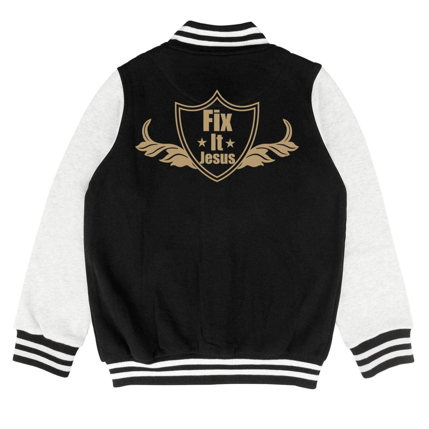 epoyseretrtgty Autumn Boys Girls Short Fix It Jesus Personality Baseball Jacket Sweater Coat