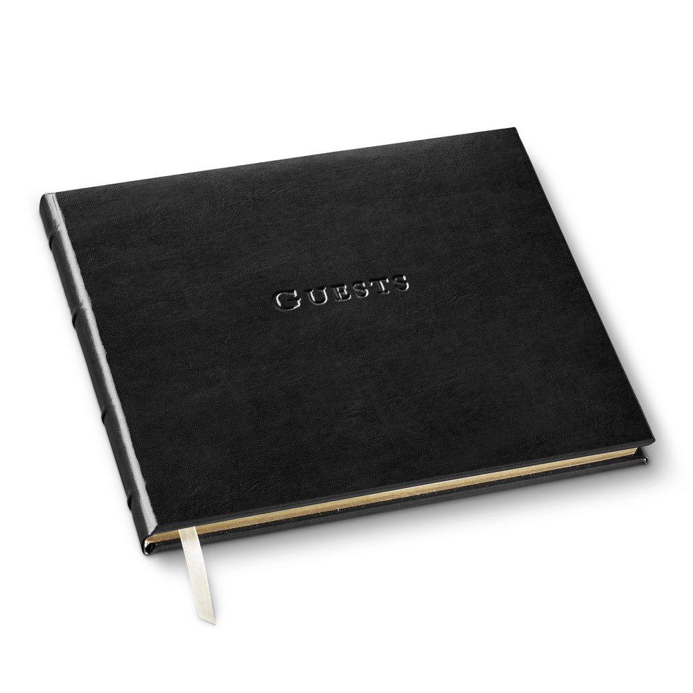 Gallery Leather Guest Book Acadia Black