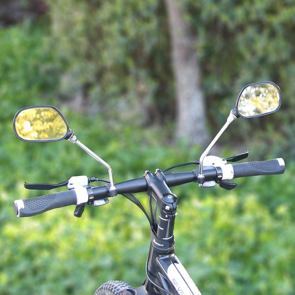 r/étroviseur pour v/élo verre r/églage Grand Angle Large R/étroviseur arri/ère gauche//droite r/éflecteur pour v/é LanLan Accessoires V/élo r/étroviseur v/élo cyclisme miroir de r/étroviseur