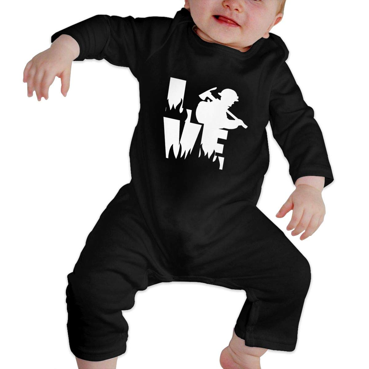 Comfortable Love A Wildland Fire Fighter Cotton Romper Outfit Infant Baby Girls Boys Long Sleeve Bodysuit
