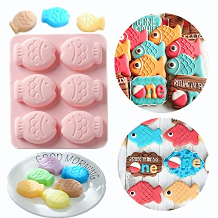 Amazon Com Jevenis Little Fisherman Cake Decorations Fish Mold