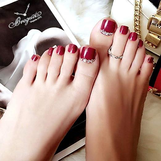 Amazon.com: xxshop 180 pcs Colorful Mixed Toe falsa uñas/3d ...