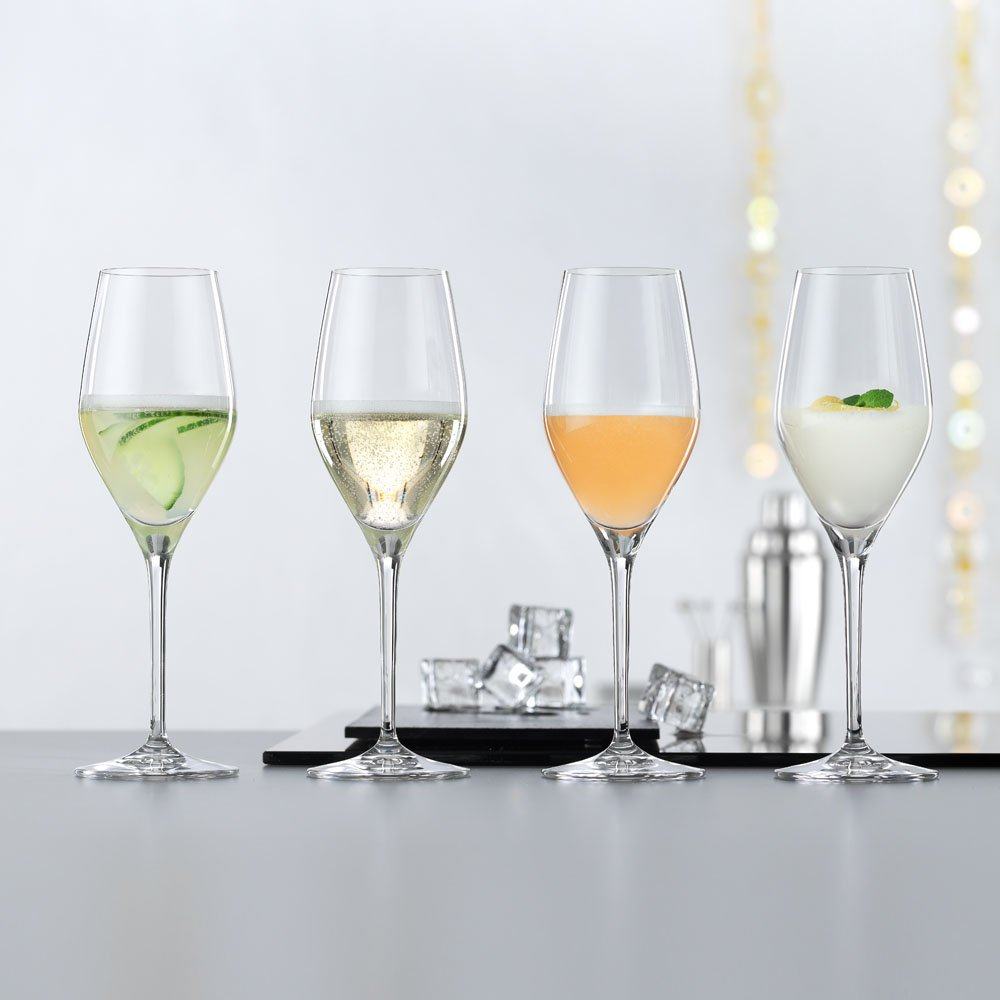 High Quality Spiegelau Prosecco Glasses Set of 4 Dishwasher Proof