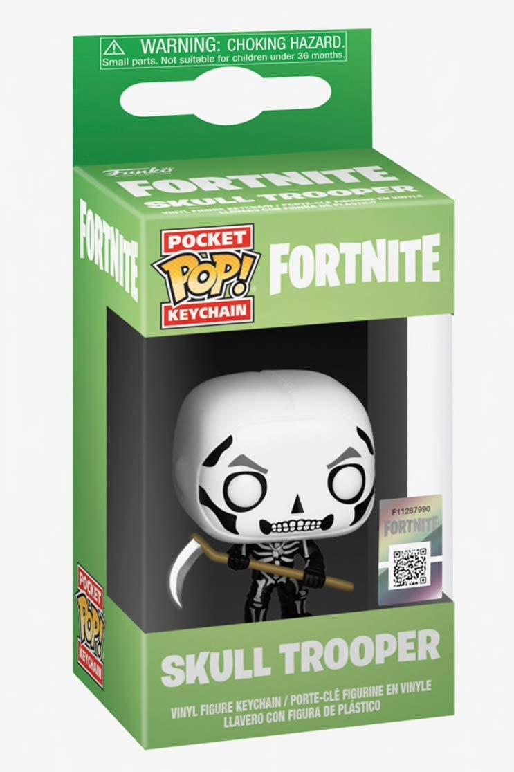 Funko- Pocket Pop Keychain: Fortnite: Skull Trooper Figura Coleccionable, Multicolor (36952)