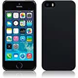 New iPhone 5 / 5S Solid Black Hybrid Rubberised Hard Back Cover Case A Durable Slim Armour Protective Tough Phone Product from The Keep Talking Shop® iPhone 5S Accessories
