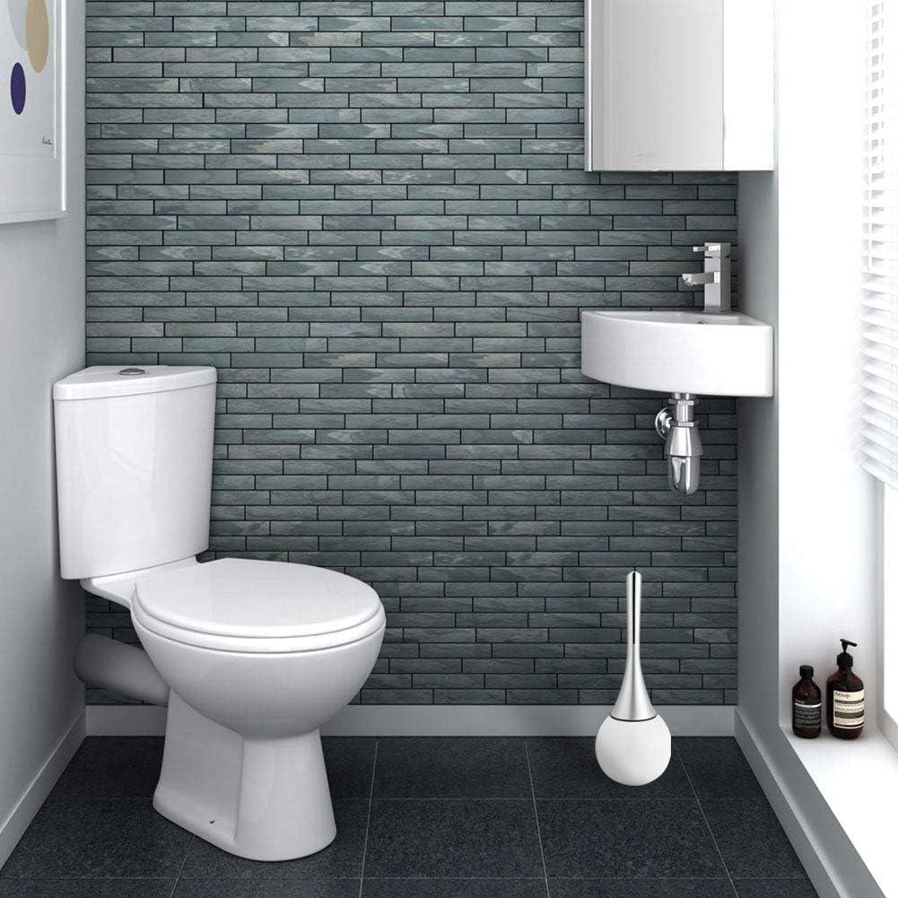 iFCOW scopino per WC portaspazzolino per Pulizia Scrub Bagno Creativo con Manico in plastica ABS