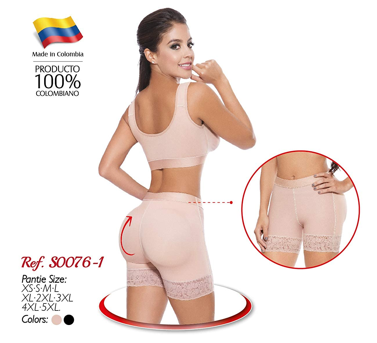 Sarali Mid Thigh Double Butt Lifter Panty S0076-1 Panty Doble Levantacola