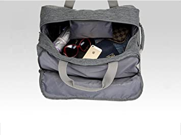5a21de0c9d5d YESO Trolley Travel Bag Hand Luggage 20inch 32L Rolling Duffle Bags  Waterproof Oxford Suitcase On Wheels Carry On Luggage Unisex (Dark-grey)   Amazon.co.uk  ...