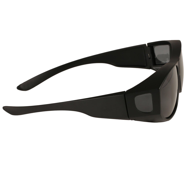 Gafas de Sol Polarizadas Para Colocar Sobre las Gafas Normales y de Lectura - Reducen el Deslumbramiento - Ligeras - Cómodas -Talla Adultos Hombres y ...