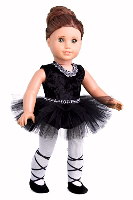 56fb98228 DreamWorld Collections - Black Swan - 3 Piece Ballerina Outfit - Black  Leotard, Tutu,