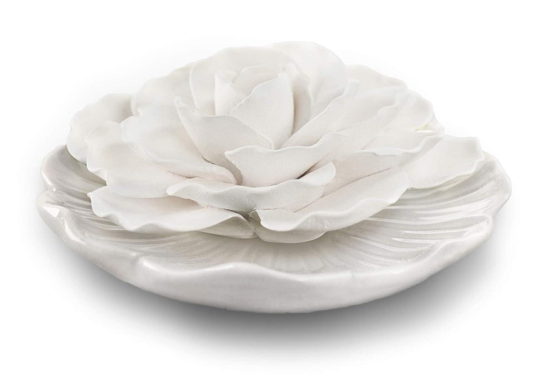 Penny & Rose セラミックフラワー ホワイトプレート オイルディフューザー 香り ペニーキャンディ B07KDQPWRX