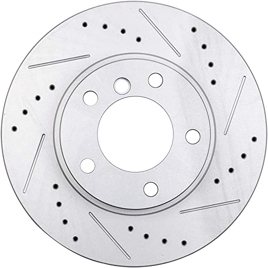 Brake Rotors FRONT ELINE DRILLED SLOTTED BMW 318i