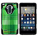 MINITURTLE Case Compatible w/LG G Stylo LS770 Phone Case, Durable Hybrid Shock Impact Stand Case w/Art Pattern Designs for LG G Stylo LS770, H631, MS631, LG G4 Stylus Plaid Green