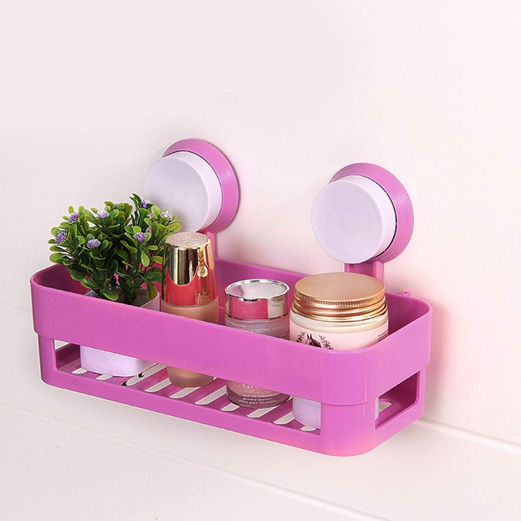 Masterein Bathroom Shelf Traceless Adhesive Tape Storage Rack Holder Bathroom Kitchen Accessories No Drill Hanging Organizer