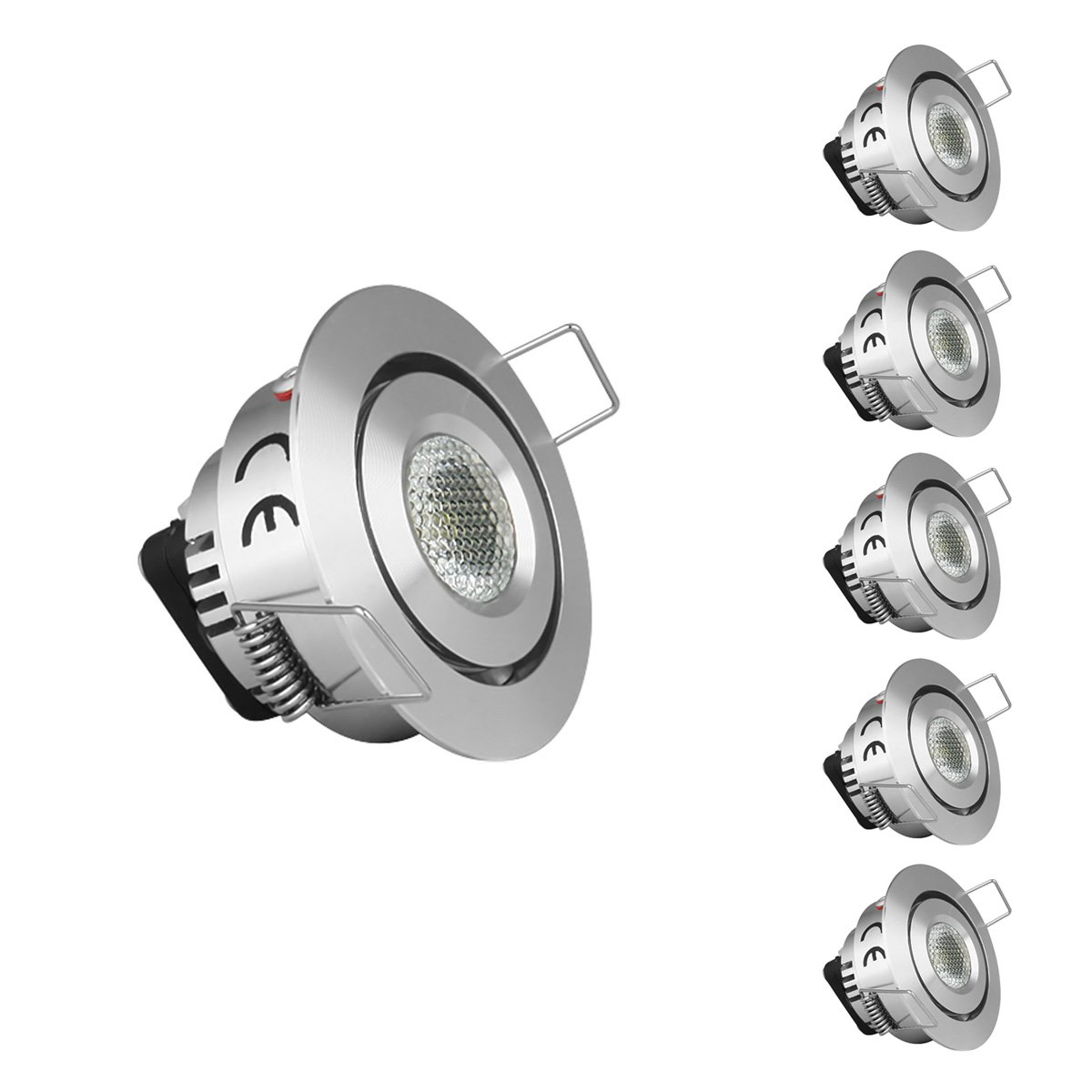 LE Pack of 5 units 1.5-Inch LED Under Cabinet Lighting, 10W ...