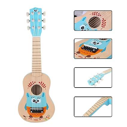 Foxom - Guitarra infantil, 21 pulgadas, 6 cuerdas, guitarra de ...