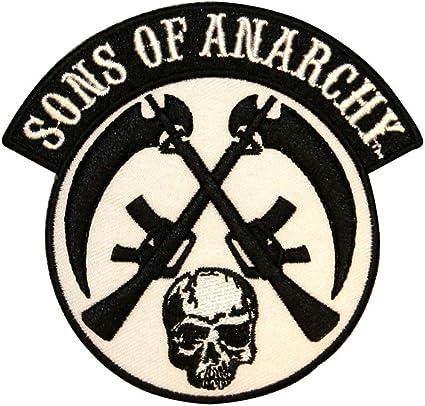 Sons of Anarchy cruzados Cráneo Y Arma Parche: Amazon.es: Juguetes y juegos