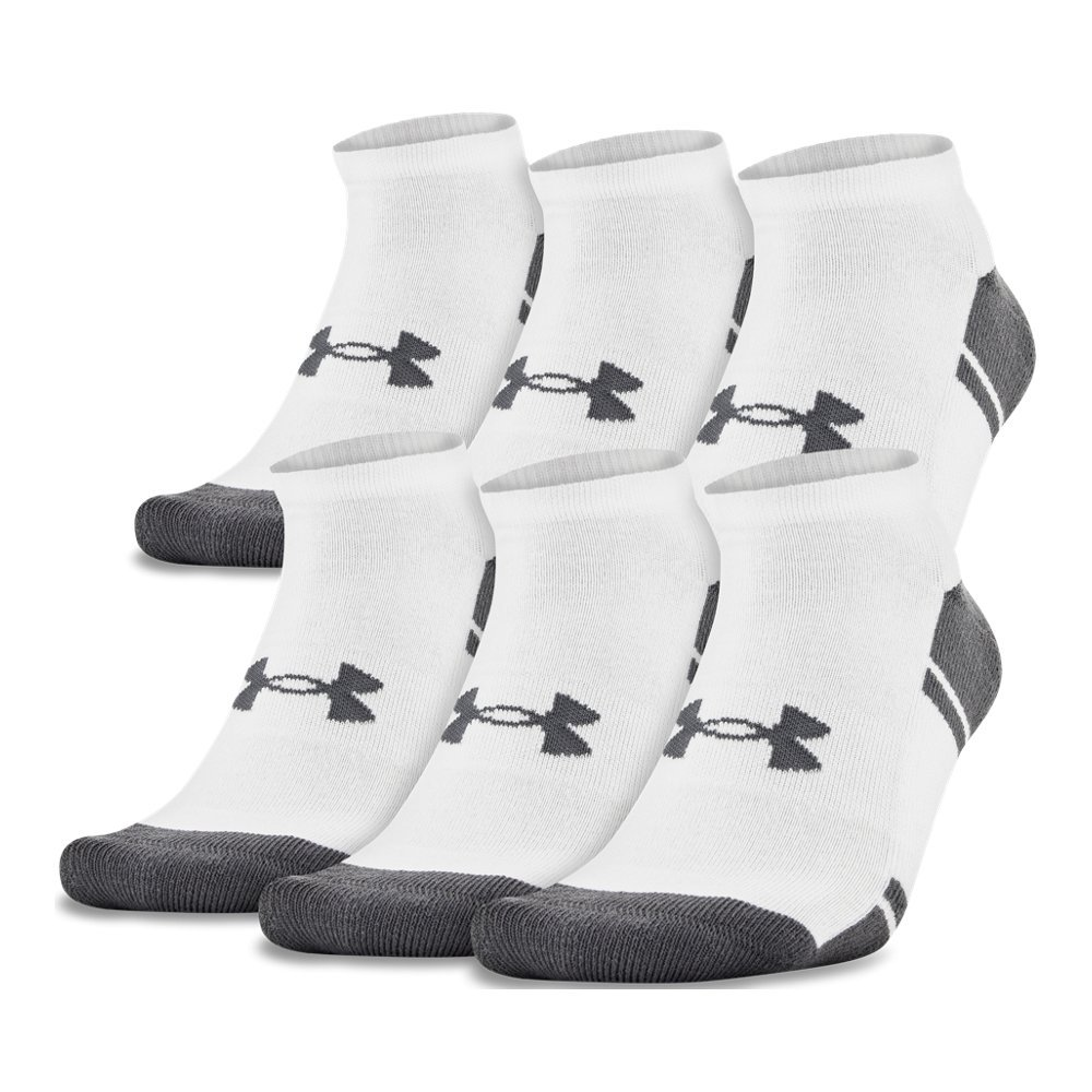 Under Armour UA Resistor III No Show - 6-Pack LG White by Under Armour