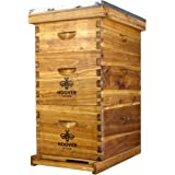 Hoover Hives 8 Frame Beehive Kit - Dipped in 100% Beeswax Includes Wooden Frames & Waxed Foundations (2 Deep Boxes, 1 Medium