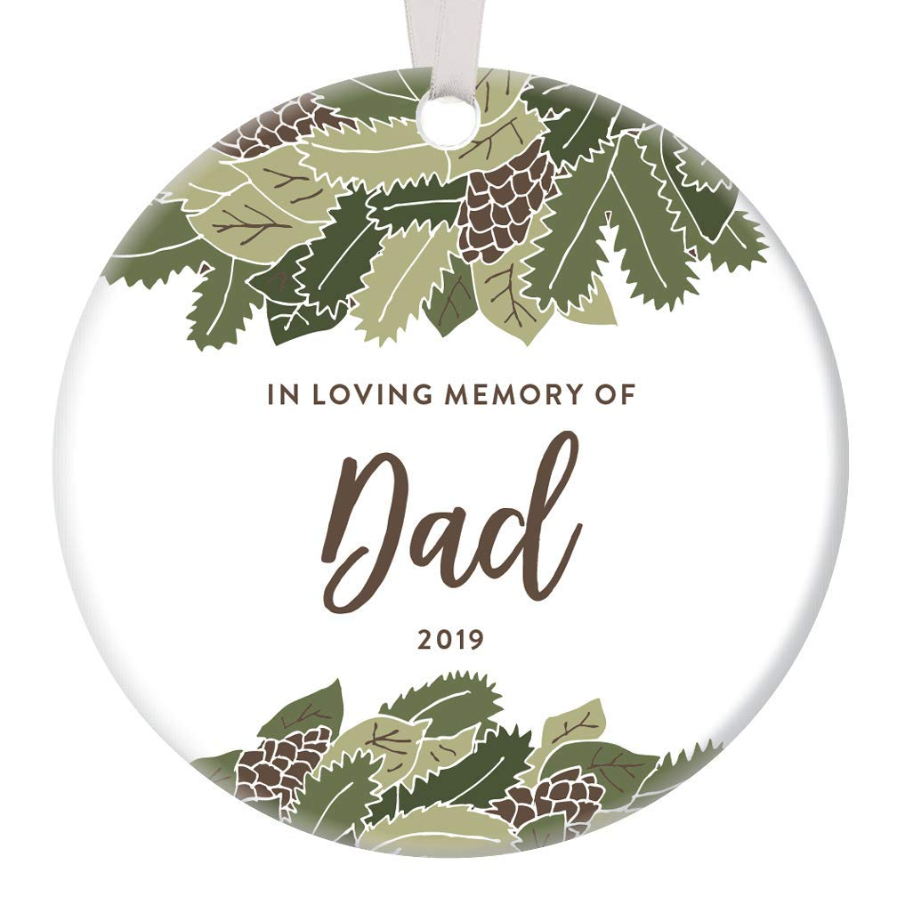 In Memory of Daddy Loss of Father Memorial Christmas Ornament