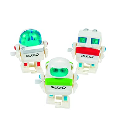 Fun Express Wind-Up Robots (1 Dozen) Party Favors, Party Decorations, Easter Basket Fillers, Stocking Stuffers, Novelty Toys: Toys & Games