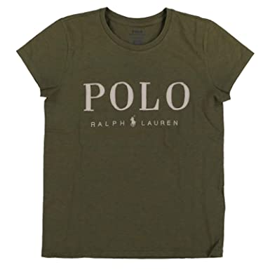 Polo Ralph Lauren Playera de Cuello Redondo para Mujer - Verde - X ...