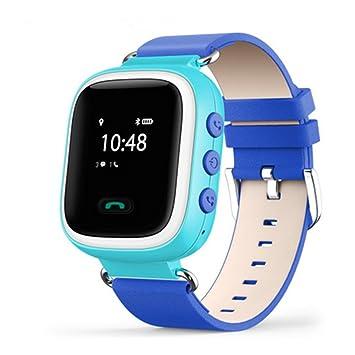 Reloj inteligente para niños, Q60 GPS GSM GPRS localizador rastreador anti pérdida SOS Simcard Smart Watch control de padres por iOS y Andriod Smartphone: ...