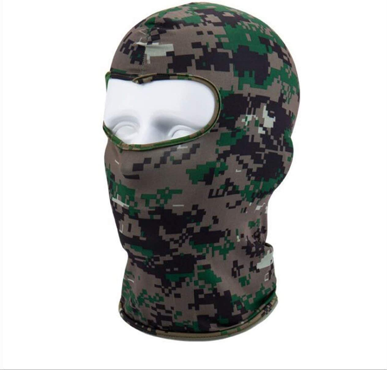 IronHeel Camouflage Winter Fleece Warm Full Face Cover Anti-dust Windproof Ski Mask Snowboard Hood Anti-dust Bike Balaclavas Scarf S Camouflage