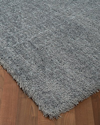 Contemporary Polyester Rug (Natural Area Rugs Orlando Polyester Shag Rug, 6' x 9',)