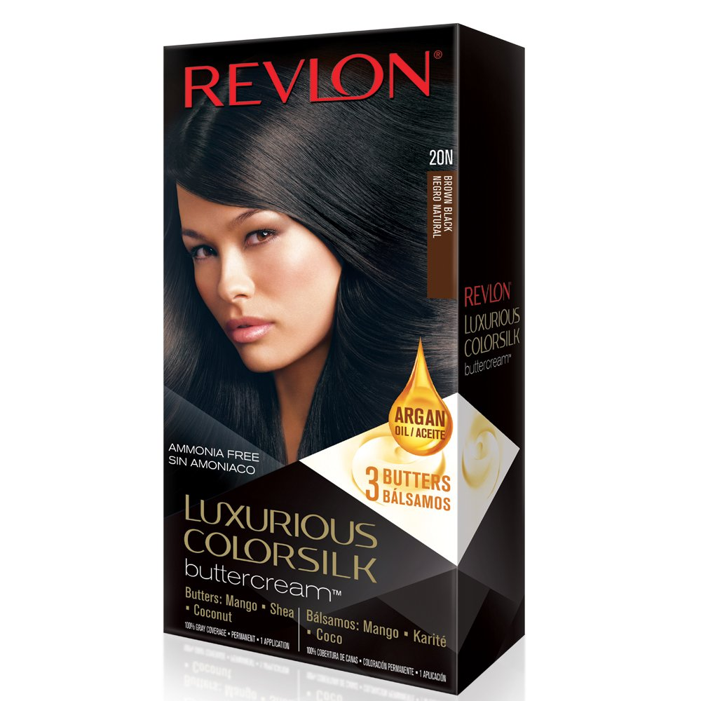 Revlon Luxurious Colorsilk Buttercream, Brown Black