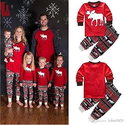 1 Juego De Navidad Para La Familia Pijamas Trajes Coincidentes