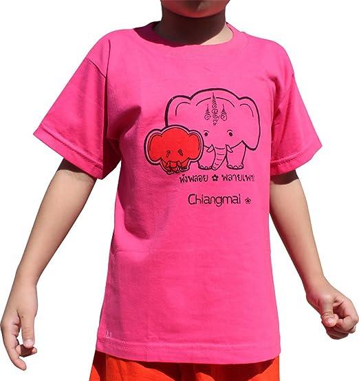 cdd8e1067 Amazon.com  Raan Pah Muang Brand Cotton Child Shirt Tuk Tuk Elephant ...